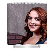 Woman Red Hair Shower Curtain