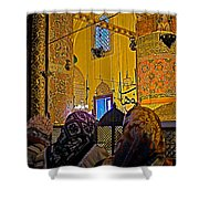 Women At Rumi's Mausoleum In Konya-turkey  Shower Curtain