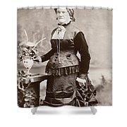 Women's Fashion, 1880s Shower Curtain