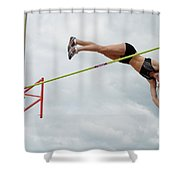Womens Pole Vault 3 Shower Curtain