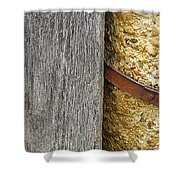 Wood Concrete And Steel In Color Shower Curtain