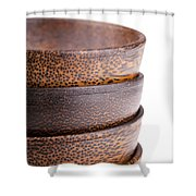 Wooden Bowls Isolated Shower Curtain