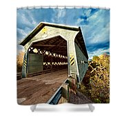 Wooden Covered Bridge  Shower Curtain
