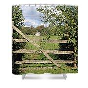 Wooden Gate Sussex Uk Shower Curtain