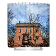 Wood's Grist Mill In Deep River County Park Shower Curtain