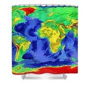 World Map Art Shower Curtain
