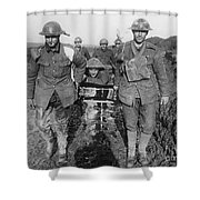 World War I: Soldiers Shower Curtain
