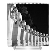 World War Pillars Shower Curtain