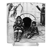 World's Fair Eskimos Shower Curtain