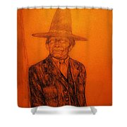 Wovoka Shower Curtain