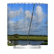 Wrightsville Beach Tidal Marsh Shower Curtain