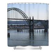 Yaquina Bay Bridge - Newport Oregon Shower Curtain by Daniel Hagerman