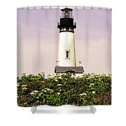 Yaquina Lighthouse In May Shower Curtain