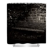 Ye Olde Bench In Bakewell Town Peak District - England Shower Curtain