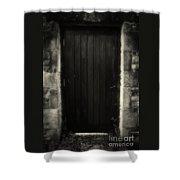 Victorian Cottage Door  Shower Curtain