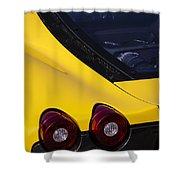 Yellow F430 Shower Curtain