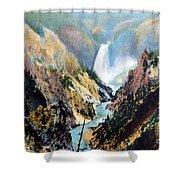 Yellowstone Canyon Yellowstone Np Shower Curtain