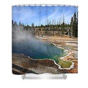 Yellowstone Park - Geyser Shower Curtain