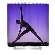 Yoga Triangle Pose Shower Curtain