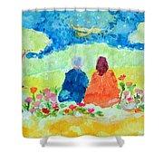 Yogananda And Swami Kriyananda Shower Curtain