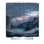 Yosemite In Clouds Shower Curtain