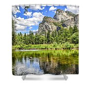 Yosemite Merced River Rafting Shower Curtain