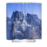 Yosemite Stone And Snow Shower Curtain