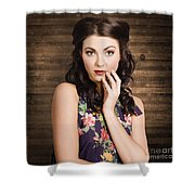 Young Girl With Perfect Skin Shower Curtain