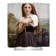 Young Shepherdess Shower Curtain