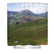 Yurts In The Tash Rabat Valley Of Kyrgyzstan  Shower Curtain by Robert Preston