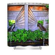 Zen Garden Fountain  Shower Curtain