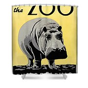 Zoo Poster C1936 Shower Curtain