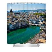 Zurich From The Grossmunster Shower Curtain