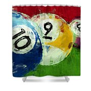10 9 8 Billiards Abstract Shower Curtain
