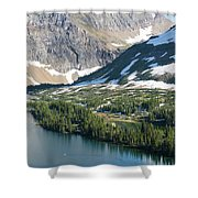 A Man Stand Up Paddle Boards Sup Shower Curtain