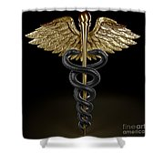 Caduceus Shower Curtain