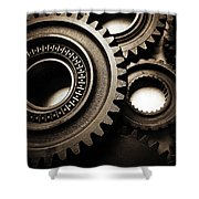 Cogs No14 Shower Curtain