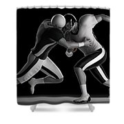 Football Collision Shower Curtain