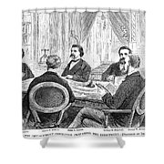 Johnson Impeachment, 1868 Shower Curtain
