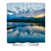 Lake Santeetlah In Great Smoky Mountains North Carolina Shower Curtain