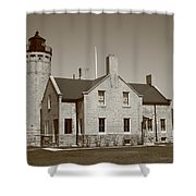 Lighthouse - Mackinac Point Michigan Shower Curtain