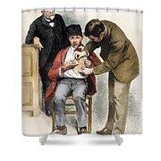 Louis Pasteur (1822-1895) Shower Curtain