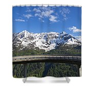 Mountain Road Shower Curtain