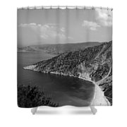 Myrtos Beach Shower Curtain