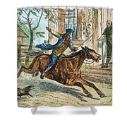Paul Reveres Ride Shower Curtain