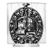 Pocket Watch, 19th Century Shower Curtain