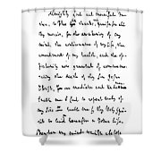 Samuel Johnson (1709-1784) Shower Curtain