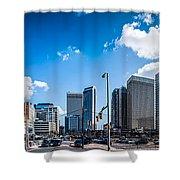 Skyline Of Uptown Charlotte North Carolina Shower Curtain by Alex Grichenko