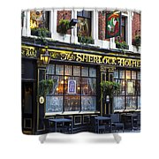 The Sherlock Holmes Pub Shower Curtain