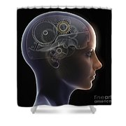 Thought Mechanism Shower Curtain